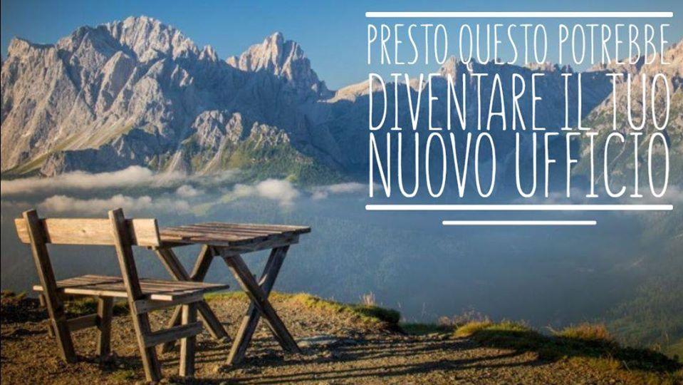 immagine di un tavolo in montagna